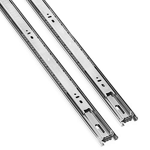 Tahlegy 10 Pair of 20 Inch Full Extension Hardware Ball Bearing Drawer Slides, Include Screws