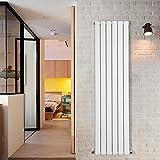 NRG Vertical Designer Radiator 1600x408mm White Tall Upright Flat Panel Single Column Central