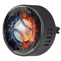 エッセンシャル オイル ベント クリップ用カー ディフューザー、野球水の火 ,2 パック 40mm アロマセラピー芳香剤