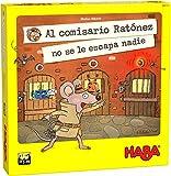 HABA 306117 - ¡Al Comisario Ratónez no se le Escapa Nadie! Juego de Memoria con un Buen Giro. Más 5 años