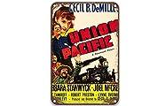 NNHG Union Pacific (1939), letreros de metal con películas vintage, decoración moderna de pared para sala de estar, casa, pared, granja barra de 20 x 30 cm