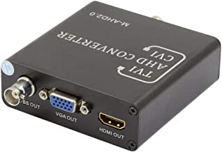 BNC AHD TVI CVI CVBS to HDMI VGA CVBS PAL NTSC Coaxial Video Converter AHD TVI 5MP CVI 2MP for Analog CCTV IP Camera DVR XVR IR LED 720P 1080P