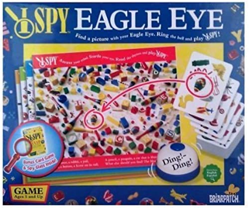 I Spy Eagle Eye Board Game with Bonus I Spy Snap Card Game by Scholastic