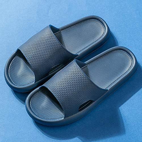 TDYSDYN Zapatos de Piscina Zapatos de Agua para baño,Zapatillas de Pareja de tacón Alto con Punta Abierta, Sandalias Huecas y Suaves y Zapatillas-Armada_42-43