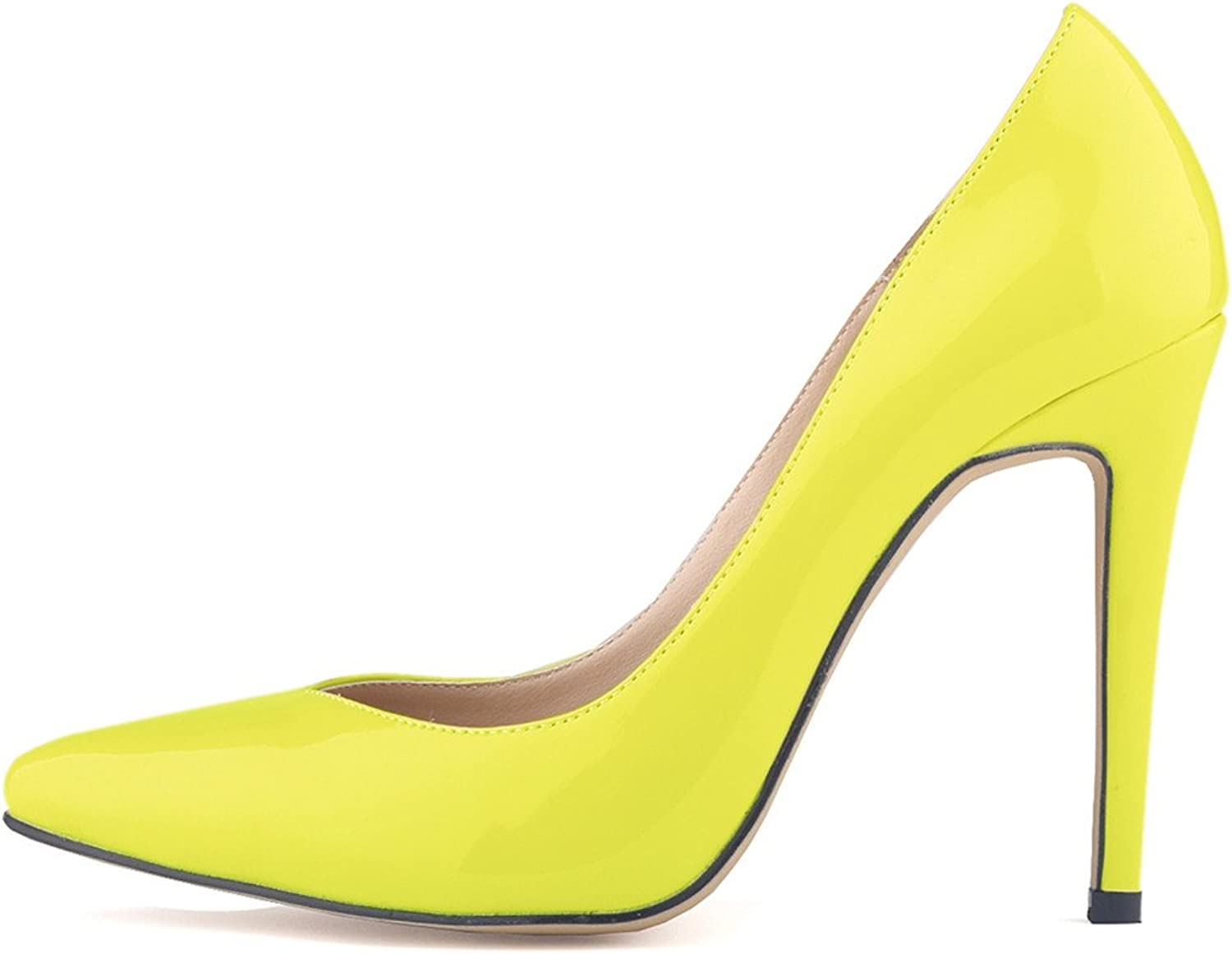 SAMSAY Women's High Heels Pointed Toe Stiletto Dress Pumps shoes
