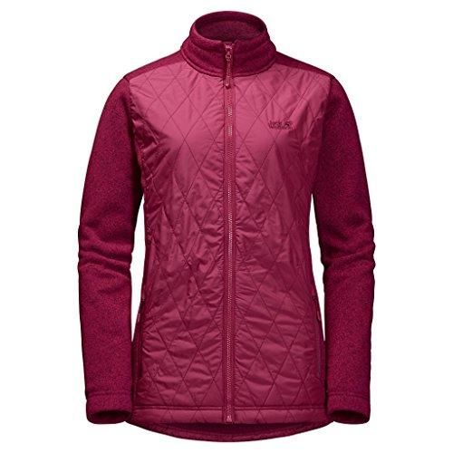 Jack Wolfskin 1203781-2501 Caribou Crossing Altis Damen Jacke absolut winddicht, dark ruby, XL
