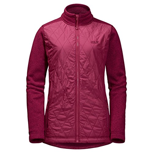 Jack Wolfskin 1203781-2501 Caribou Crossing Altis Damen Jacke absolut winddicht, dark ruby, L