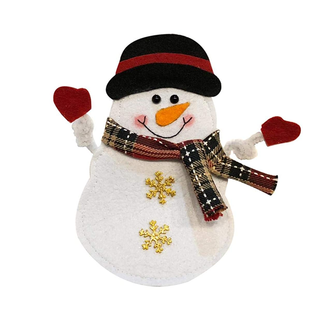 shuiyxingjp ナイフ フォーク バッグ 食器カバー クリスマス カトラリーバッグ ナイフ フォーク カバー 可愛い クリスマス 飾り プレゼント クリスマスツリー 装飾 サンタクロース 雪だるま エルク パーティー デコレーション ホーム ダイニング ルーム