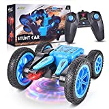 LED Remote Control Car RC Cars for Kids, 4WD 2.4Ghz RC Stunt Car with 360° Flips, Double Sided Rotating RC Cars Stunt Car Toy for Boys & Girls Birthday