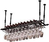 FBBSZSD Estante de Vino de Techo Portavasos de Vino Colgante Marco de Copa de Vino Tinto Portavasos de vajilla al revés (Color: A, Tamaño: 60 * 30 cm)