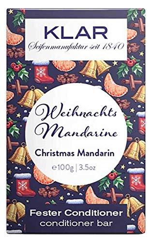 Klar's - Bar Conditioner - Christmas Weihnachtsmandarine - fester Conditioner 100gr Vegan