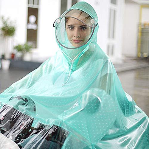 Geruafu Regenjas, TPU, afneembaar gezicht, make-upbescherming, kan bril dragen, voor vrouwen, in motorfiets/elektrische auto/fiets