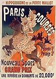 Carnet Blanc, Affiche Hippodrome Porte Maillot Paris (BNF Affiches)