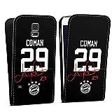 DeinDesign Flip Case kompatibel mit Samsung Galaxy S5 Neo Tasche Hülle Coman #29 FC Bayern München Trikot