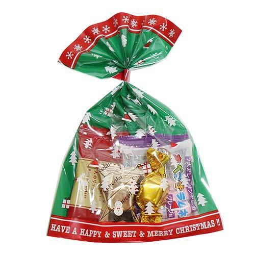 クリスマス袋 100円 miniパック 4 チョコ 駄菓子 袋詰め おかしのマーチ (omtma5825)