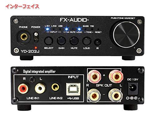 『FX-AUDIO- YD-202J『ブラック』YDA138デジタルアンプIC搭載デュアルモノラル駆動式デジタルプリメインアンプ』の3枚目の画像