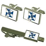 Select Gifts La ciudad de Braga Portugal Bandera gemelos Clip de corbata Box Set de regalo