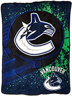 """Officially Licensed NHL """"Ice Dash"""" Micro Raschel Throw Blanket, 46"""" x 60"""""""