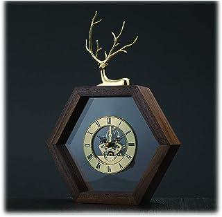 Bedside Clock 11.8in أسلوب بسيط مانتل ساعة/عصري المنزلية على مدار الساعة/مضلع الجدول ساعة/غرفة المعيشة ممر مكان Desk Clock
