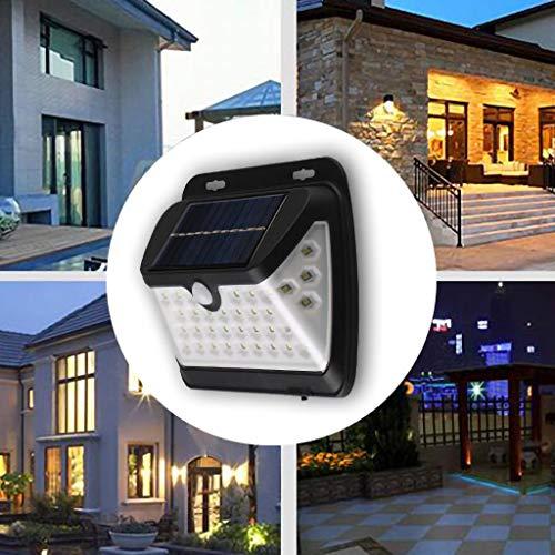 Holatee Sensor de Movimiento Energía Solar Luz de Pared Al Aire Libre Jardín Lámpara Impermeable 38 LED