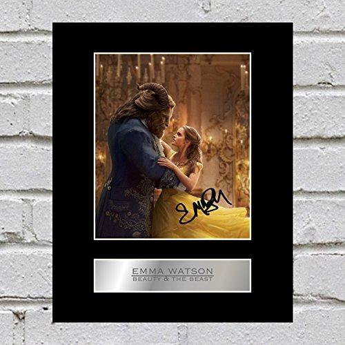 Foto enmarcada de la Bella y la bestia con la firma de Emma Watson