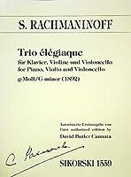 RACHMANINOV - Trio Elegiaco en Sol menor (1892) para Violin, Violoncello y Piano (Partitura/Partes)