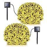 Solar Fairy String Lights, 2 Pack 72ft 200 LED Bright Solar Decorative Romantic
