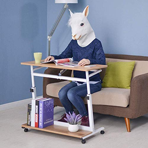 WXDP Silla de ruedas autopropulsada, mesa de sofá, mesa auxiliar de mesa de sobrecama, altura ajustable, inclinable sobre la cama, mesa de ordenador portátil, escritorio Wi