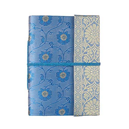 Paper High Carnet de notes Motif sari Taille M 120 x 165mm bleu