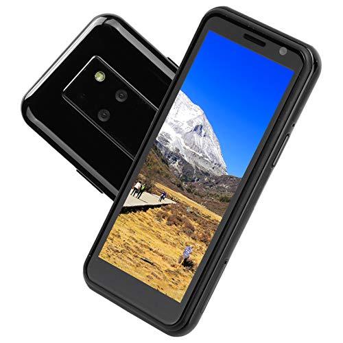 Annadue Black Smart Mini Phone, MT6739CW 3.49in 4G Dual-SIM Teléfono móvil de Doble Modo de Espera, resolución TFT de 340 x 800, cámara Frontal de 8MP + cámara Trasera de 13MP (UE)
