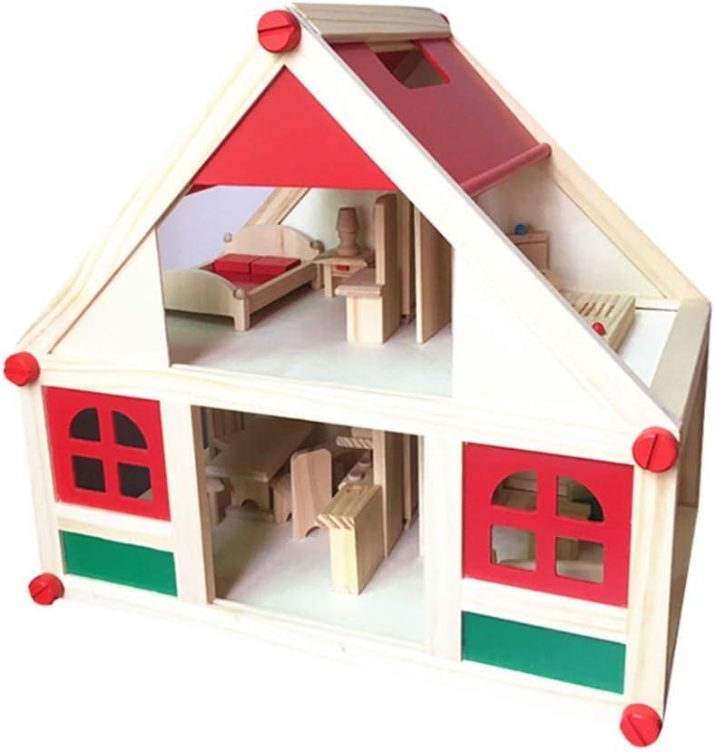 Toys Miniature Dollhouse Kit Doll Virginia Ranking TOP2 Beach Mall Play House Bedroom Family