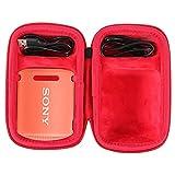 co2CREA Duro Viajar Caso Cubrir para Sony SRS-XB12 / Sony SRS-XB13 Altavoz inalámbrico portátil(Funda Solo) (Rojo)