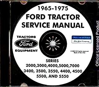 COMPLETE & UNABRIDGED 1965 1966 1967 1968 1969 1970 1971 1972 1973 1974 1975 FORD TRACTOR REPAIR SHOP MANUAL CD SERIES 2000, 3000, 4000, 5000, 7000