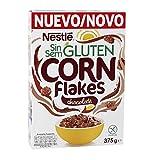 Cereales NESTLÉ Corn Flakes Chocolate - Copos de maíz tostados con chocolate - 1 paquete de cereales 375g