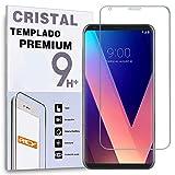 REY Protector de Pantalla Curvo para LG V30, Transparente, Cristal Vidrio Templado Premium, 3D / 4D / 5D
