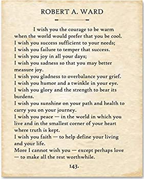 Robert Ward - I Wish You - 11x14 Unframed Typography Book Page Print - Makes a Great Home Decor or Gift Under $15 for Book Lovers