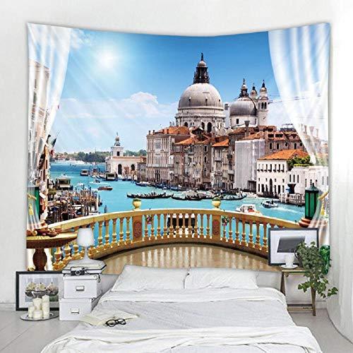 Tapiz Castillo paisaje tapices para colgar en la pared tapiz alfombra de pared fondo fotográfico paño manta para sala de estar 150X200CM