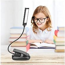Flexibele 2 dubbele armen clip on 2 LED-licht voor het lezen van boeken, schrijftafel tafellamp instelbaar 2 modi LED-zakl...