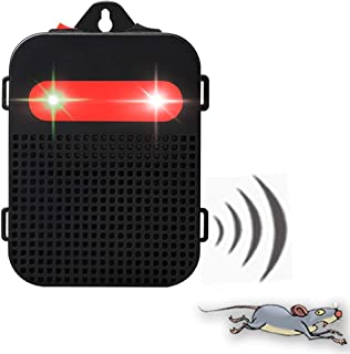 Angveirt Battery Operated LED Strobe Lights Ultrasound Device Under Hood Rodent Repeller Mouse Mice Rat Rodent Repeller for Your Indoor Area Garage Kitchen Attic Basement Shed