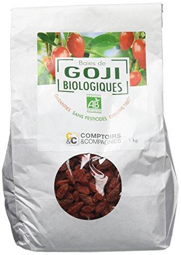 COMPTOIRS ET COMPAGNIES Baies de Goji Garanties sans Pesticides Bio 1 kg