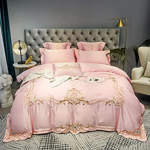 Funda De EdredóN 90,60 Rodillo de seda de satén, cama de seda, de algodón, algodón, color sólido, soltero, cama doble, un solo edredón especial es conjunto de zócalos de almohada-GRAMO_Cama de 2.0m (