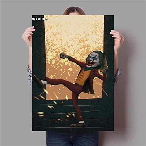 wtnhz Kein Rahmen Parodie Joker Malerei Qualität Wohnkultur Kunst Dekor lebende Wandkunst Kinderzimmer Kinderzimmer Poster Leinwandmalerei 60x90cm