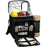 Best Picnic Baskets - Picnic at Ascot Insulated Picnic Basket/Cooler Fully Equipped Review