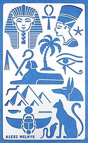 Aleks Melnyk #31 Plantilla Stencil de Metal para estarcir/Símbolos de Egipto/para Arte Manualidades y decoración/Plantilla para...