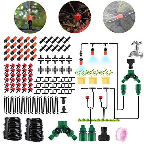 BORUIT 30M DIY Auto Drip Irrigation Kit,100FT Irrigation Pipe, Irrigation Sprinklers,Perfect Drip...