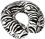 Aidapt VM936AH Nackenkissen aus Memory-Schaum, Farbmuster Zebra weiß/schwarz
