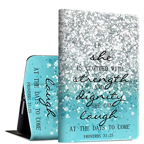 iPad Mini 4 Case, Rossy PU Leather Folio Smart Cover TPU Shock Protection Case with Adjustable Stand & Auto Wake/Sleep Feature for Apple iPad Mini 4th Generation 2015,Bible Quote Proverbs 31:25