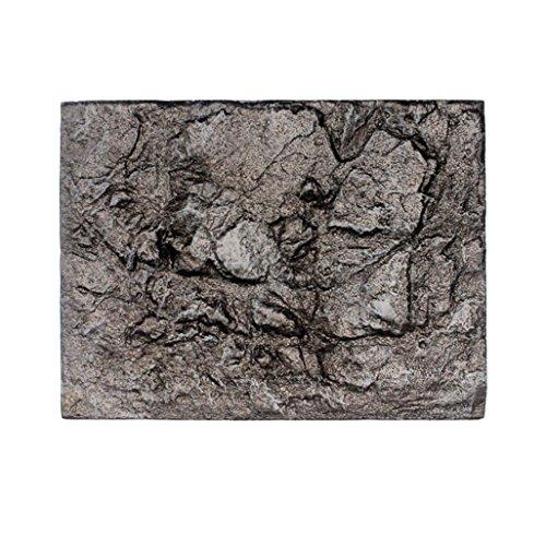 IGEMY 3D Foam Rock Reptile Stone Aquarium Background Backdrop Fish Tank Board Decor (E)