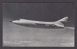 Douglas D-558-2 Skyrocket US Navy supersonic aircraft arcade card 1950s