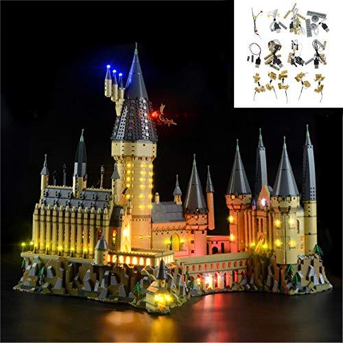 Juego De Iluminación LED Adecuado para El Modelo De Bloque De Construcción De Bloqueo De Lámpara del Castillo De Harry Potter Hogwarts, Compatible con Ladrillos Lego 71043, (sin Modelos De Lego)
